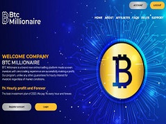 Btcmillionaire.io Review (SCAM) : New Hyip 0.4% - 1% Hourly Forever