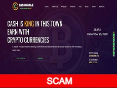 Cashwhale.biz review (SCAM) : 0.08% - 4% hourly forever