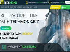 Techmonk.biz Review : Up To 8% Hourly For 30 Days