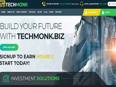 Techmonk.biz Review (SCAM) : Up To 8% Hourly For 30 Days
