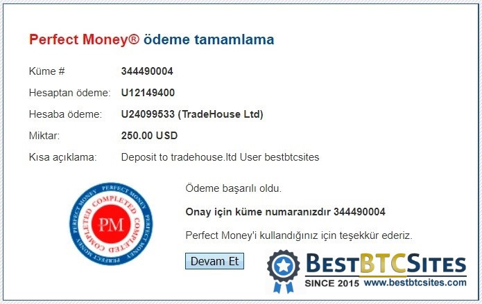 tradehouse.ltd payment proof