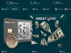 Greatcoin.ltd Review (SCAM) : Plans with 1.6% daily and 0.5% hourly profit returns