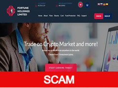 Fortuneholdings.limited Review (SCAM) : Profit return between 108% - 200% in total