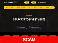 Starcrypto.cc Review (SCAM) : New hyip 0.08% - 4%  hourly forever