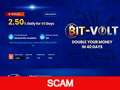 Bit-volt.io Review (SCAM) : Double your money in 40 days