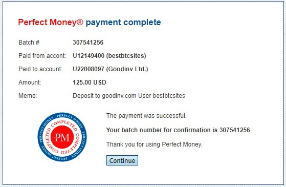 payment proof for hyip site