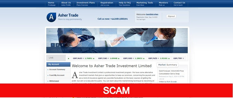 ashtrade new online investment site