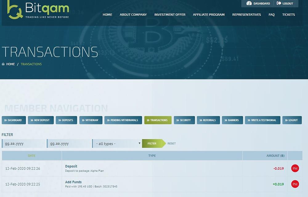 hyip site deposit details