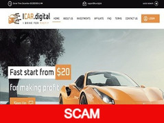 Icar.digital Review (SCAM) : 3% - 10% daily forever