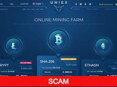 Uniex.biz Review (SCAM): Cloud Mining Site