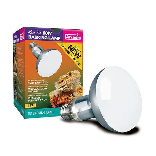Arcadia Mini D3 UV Basking Lamp, 80 Watts