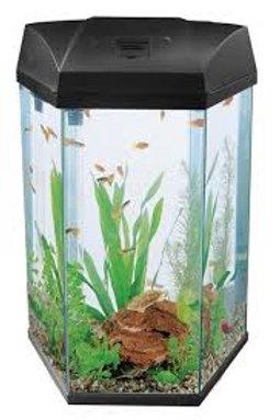 Fish R Fun FRF-555 Black 21.6L Hexagonal Aquarium