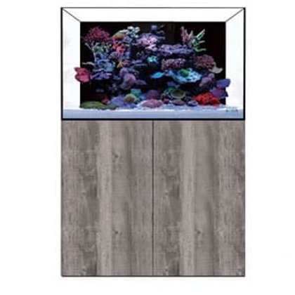 EA Reef Pro 900 Marine Aquarium, Sump & Cabinet in raw concrete grey