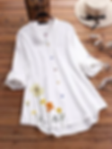 flower print long sleeve colorful button