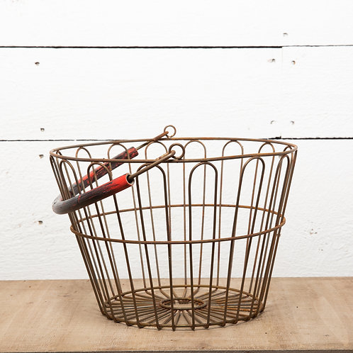 Home and Garden Metal Rustic Basket - 12 x 8 inch