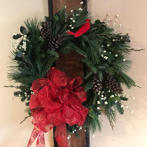 "24""  FRESH Evergreen Wreaths"