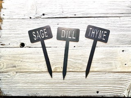 Set of 3  -  T-Style Plant Markers