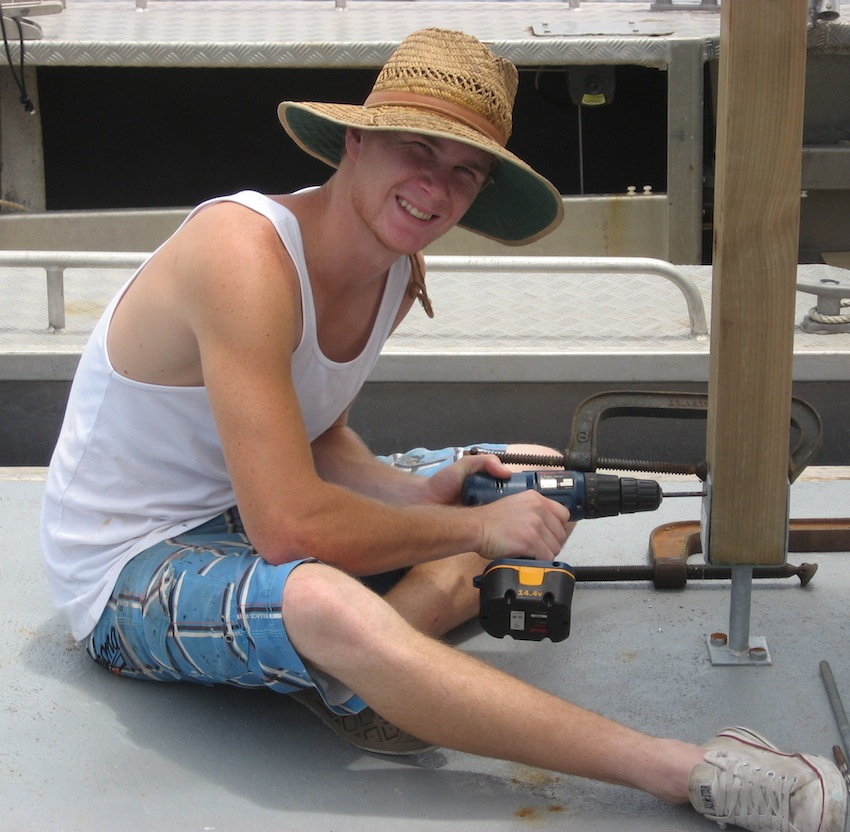 House boat deck