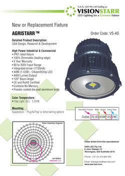Agristarr Product Sheet