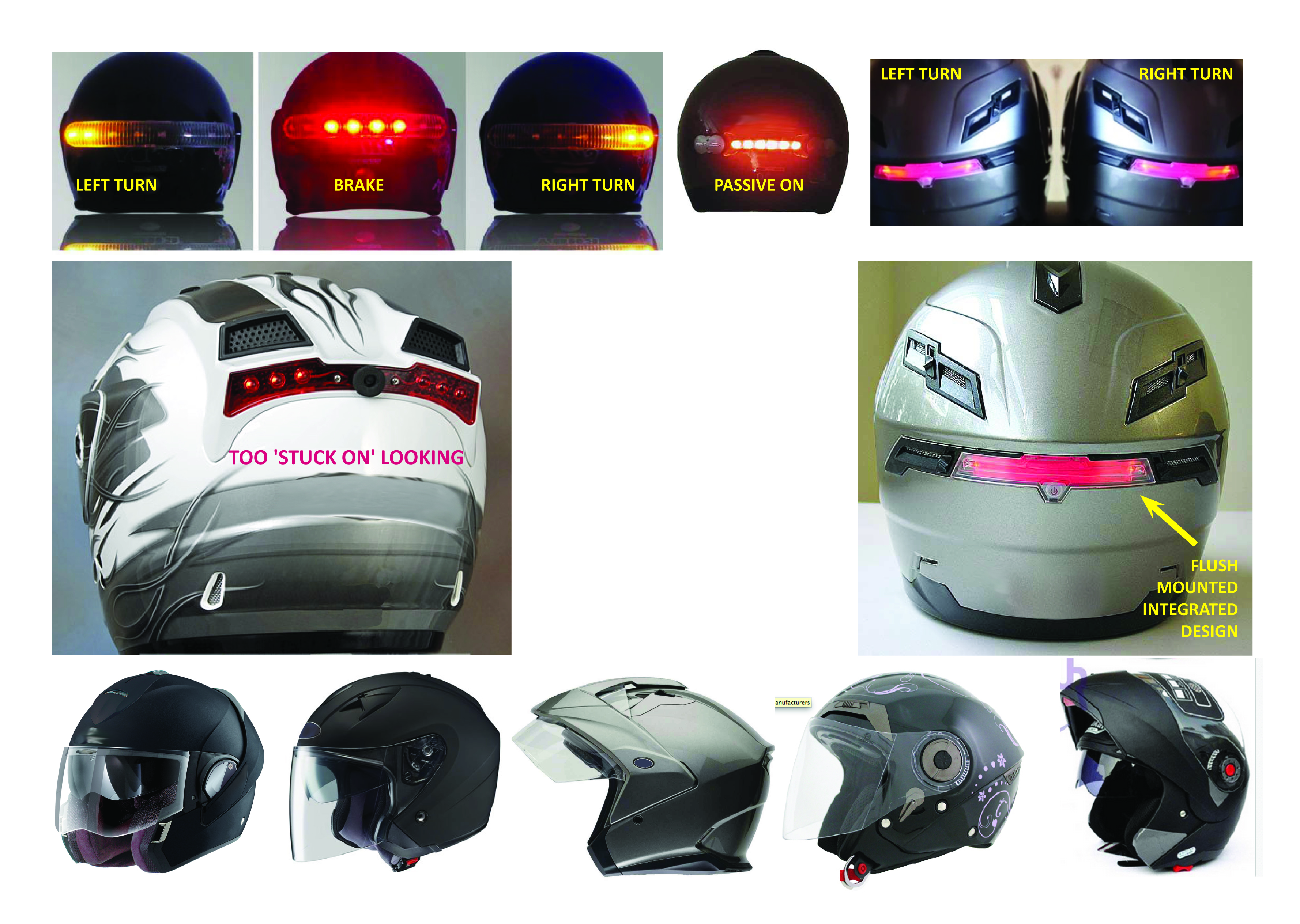 LED Helmet Concepts