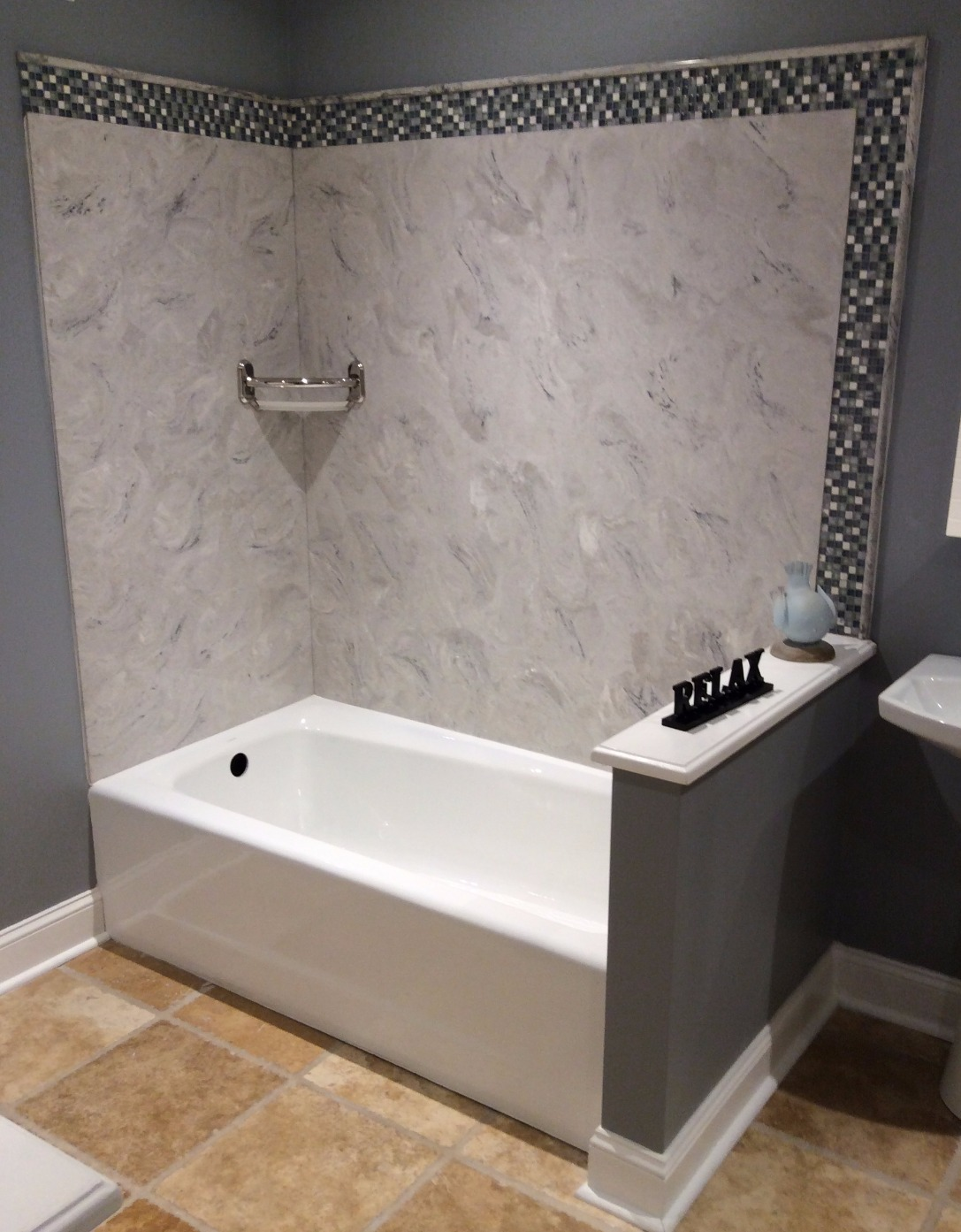 Kohler tub with Luicana panels