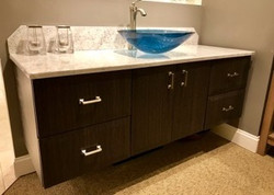 Wall-hung Bertch cabinetry