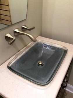 Kohler sink, Moen faucet