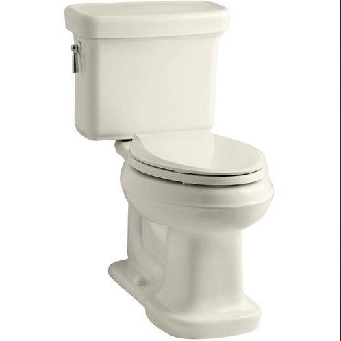 Kohler 3827-47 ALMOND Bancroft Comfort Height two-piece elongated toilet