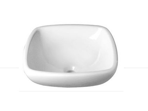 Decolav -White- Classically Redefined® Square Semi-Recessed Vitreous China Sink