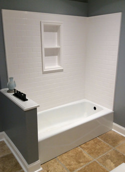 Kohler tub with Luicana wall panels