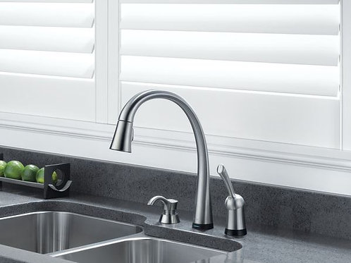 Delta PILAR Kitchen Faucet with Touch2O® Technology in Artic Stainless