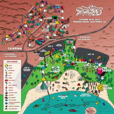 Desert Daze 2019 Map