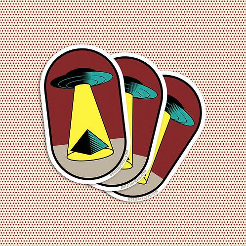 Pyramid Abduction Sticker