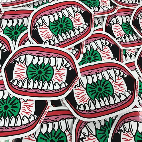 Eyeball Eater Sticker