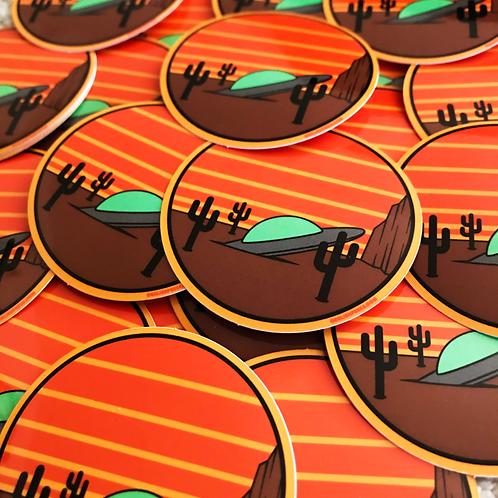 UFO Crash Sticker