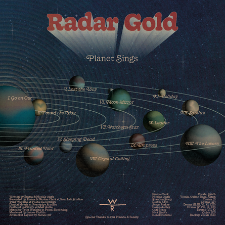 "Radar Gold, ""Planet Sings,"" Back"