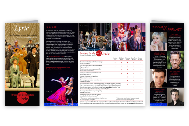 Lyric Opera Broadway Benefactors Brochure