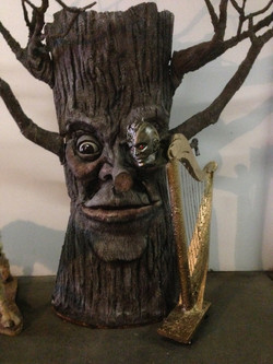 """'Singing Harp"""" puppet with """"Mr Tree"""""""