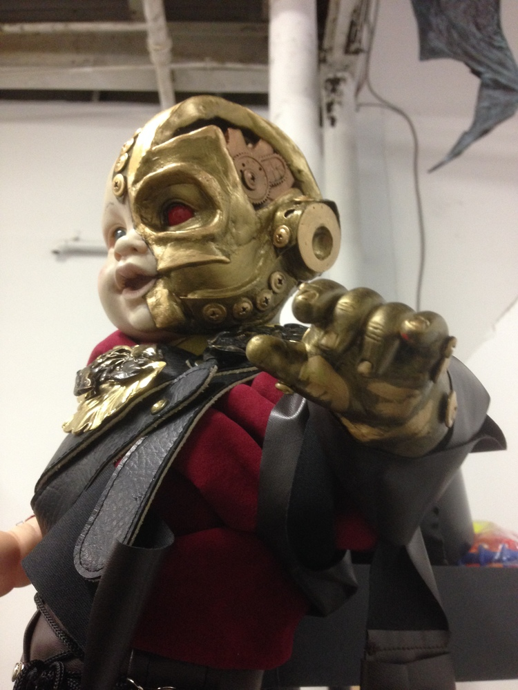 Cyborg Baby puppet