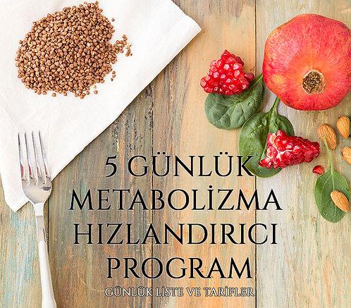 5 Günlük Metabolizma Hızlandırıcı Program