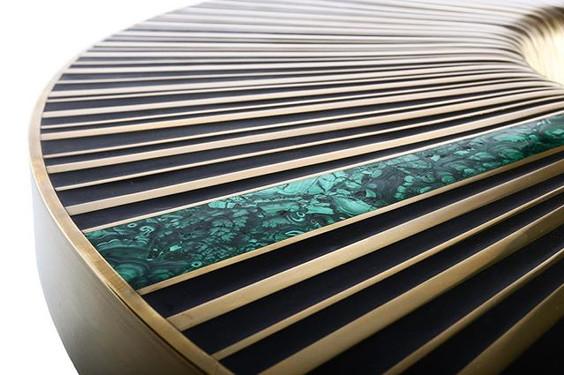 Green Vortex -malachite inlay detail  #y