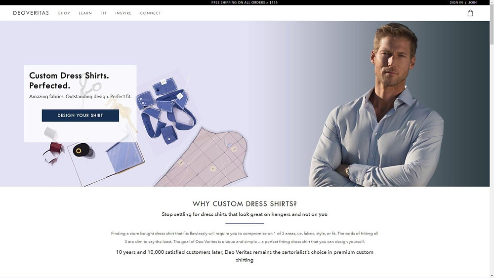 Shirt configurator powered by CGI Global TailorMate3D