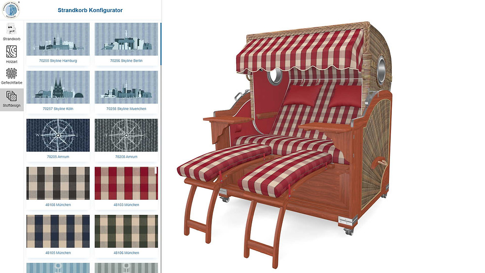 3D Beach chair configurator
