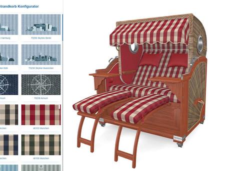 Strandkorbprofis Beach-Chair configurator