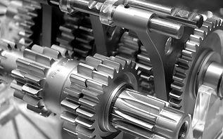 Steel gray gears