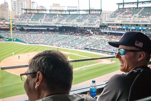Employees at Detroit Tigers game at Comerica Park.