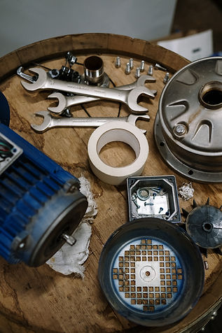 Mechanical parts on a barrel