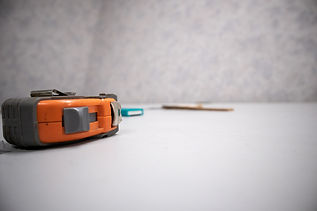 Tape measure on sketch table