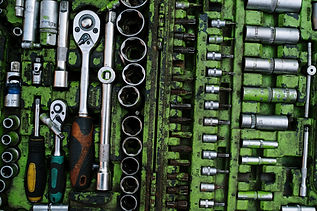 Green assorted toolbox