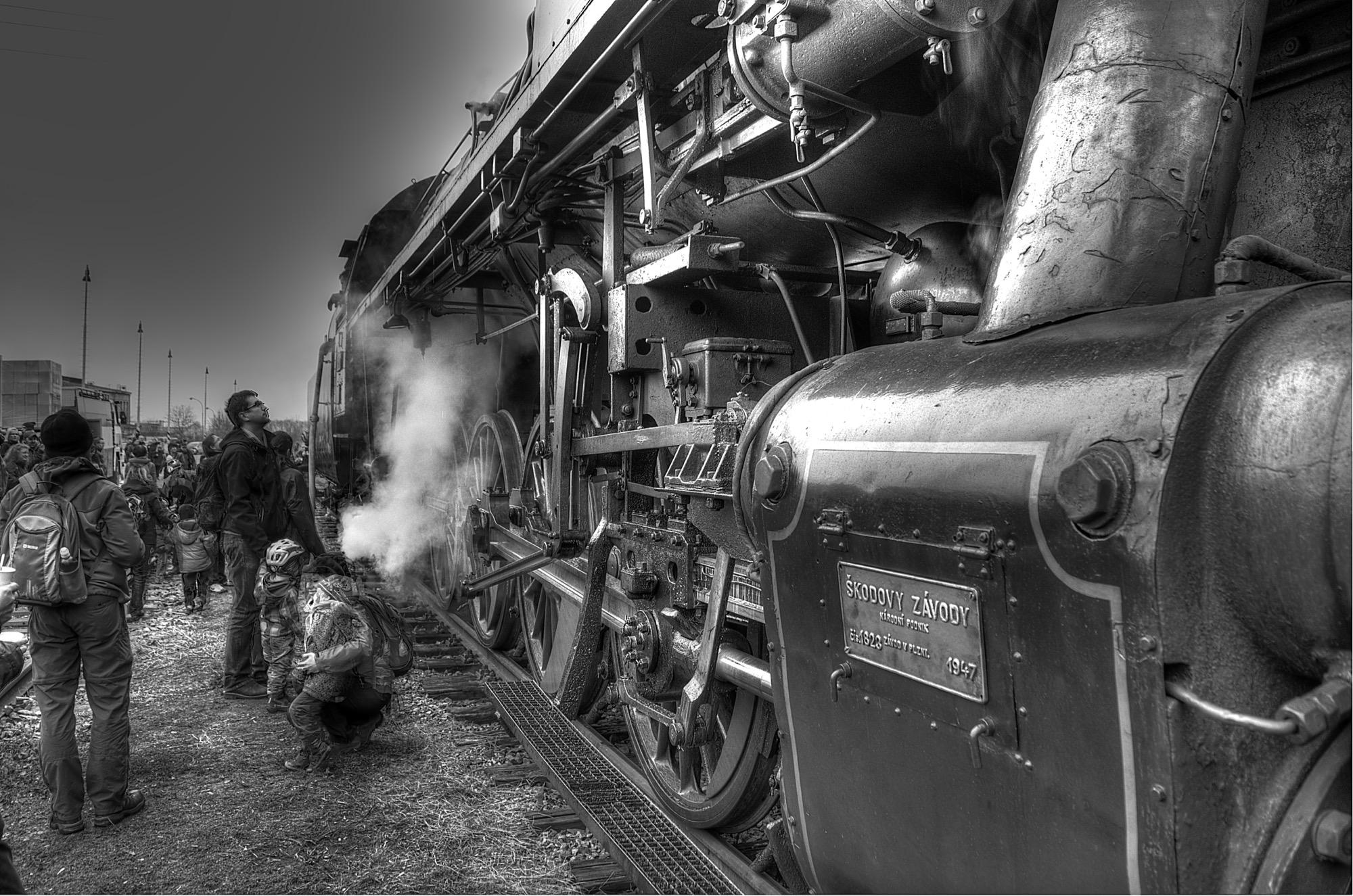 Nádraží Lednice - parní lokomotiva